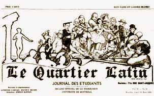Le Quartier latin, journal étudiant : 1919